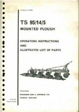 RANSOMES MOUNTED PLOUGH TS 95/14/5 OPERATORS MANUAL & ILLUSTRATED PARTS