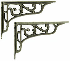 "Paire 9""/22cm en fonte edwardian scroll wall shelf brackets décoratif antique"