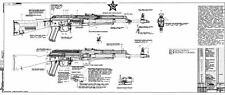 Blueprints of the Soviet Russian AKM AK-47 2 Large Posters AK47  LQQK & BUY NOW!
