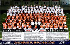 2015 Denver Broncos Official Team Photo 11x17 Poster SGA - Super Bowl 50 Champs!
