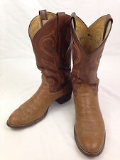 LARRY MAHAN Boots Mens 10 Size Brown Leather Cowboy Western Rodeo USA LMM 3911
