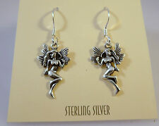 .925 Sterling Silver FAIRY EARRINGS Dangle/Drop NEW Mystical Fantasy 925 NV19
