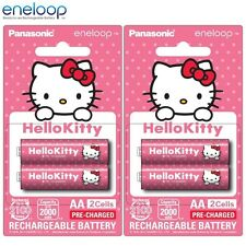 4x Panasonic Hello Kitty Eneloop 1900mAh AA Rechargeable Batteries 2100 Cycle DF