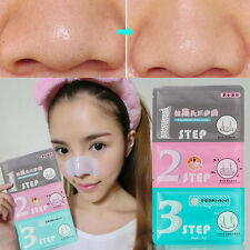 Men Women Cosmetic Pig-nose Clear Blackhead Acne Remove Face Mask 3 Step Kits 2X