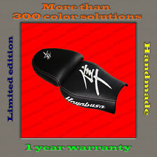 CUSTOM Seat Cover Suzuki Hayabusa 99-07 HAND-MADE black+white 001_1