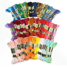 Lots 100 Cotton Cross Floss Stitch Thread Embroidery Sewing Skeins Multi Colors