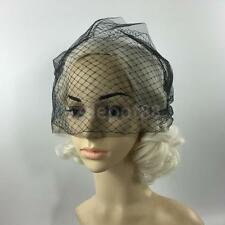 Wedding Bridal Blusher Fascinator Net Birdcage Face Veil Black