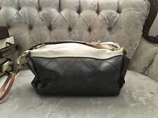 100% AUTHENTIC CHANEL GRAY NYLON BIARRITZ HANDBAG