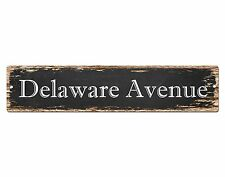 SP0570 DELAWARE AVENUE Street Sign Home Cafe Store Shop Bar Chic Decor Gift
