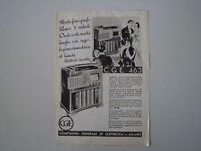 advertising Pubblicità 1938 RADIO FONOGRAFO CGE 463