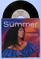 """7"""" Donna Summer – State Of Independence Holland Ps 1982 ynth-pop, Disco"""