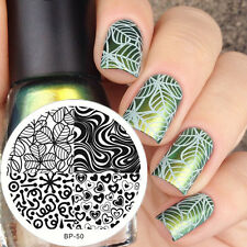 Nail Art Stamping Schablonen Stempel Nagel Template Image Plate BORN PRETTY BP50