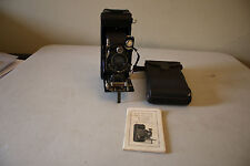 Vintage Kodak No. 1A Series III Folding Camera W/ Case and Manual