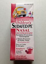 CHILDREN'S SUDAFED PE NON DROWSY RASPBERRY NASAL DECONGESTANT 4 OZ COLD ALLERGY