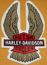 NOS Vintage Harley Davidson Motorcycles Eagal Wings Sticker Red Brown New (86)