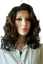 CORAL | BALAYAGE | MEDIUM CURLY SYNTHETIC LACE FRONT WIG |SLEEK FASHION IDOL 101
