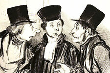 Honore Daumier c1950 - LAWYERS DISCUSSING CASE LAW - Legal Vintage Print Matted