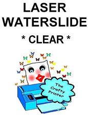 LASER Waterslide Decal Paper -  5 Sheets - CLEAR
