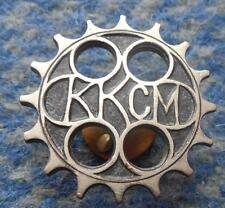 KKCM KRAKOW POLAND MOTORCYCLE & CYCLING CLUB 1970's PIN BADGE
