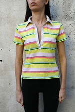 North Sails Ladies Short Sleeved Polo Top Cotton Striped Multi XS Extra Small