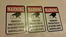 VIDEO SURVEILLANCE Security Decal  Warning Stickers set of 3 (warning )