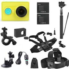 XiaoMi Yi Action Sports Camera DVR+Car Charger/ Bracket+Selfie Stick+Suction Cup