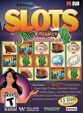 WMS SLOTS JADE MONKEY 15 Slots Included PC Game DVD-ROM NEW in BOX