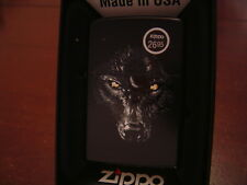 BARRETT-SMYTHE BLACK WOLF ZIPPO LIGHTER MINT IN BOX