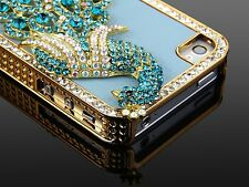 For iPhone 4 4S Aluminum Bling Steel Hard Cover Case w/ Screen Protector