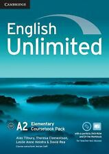 English Unlimited Elementary Coursebook with e-Portfolio and Online Workbook...