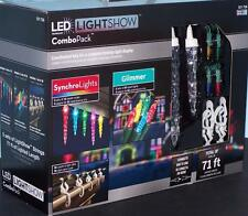 Clearance Gemmy LightShow LED Combo 2 Glimmer Light 3 Synchro Multi color Icicle