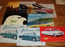1960-1970 Ford Falcon Sales Brochures Lot of 8 61 62 63 64 65 66 67 68 69