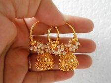 Golden Oxidized Earring Tribal Jhumka Bali Hoop Dangle Drop Jhumki Fashion E24