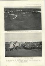 1900 War Balloon Attaching Sandbags Aerial Photography