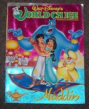 1993 Walt Disney's World On Ice Aladdin Program Vintage Rare OOP