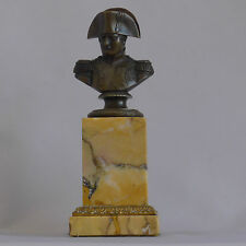 Fantastic Early Bronze napoleon Bronze Bust on Sienna marble Circa 1815