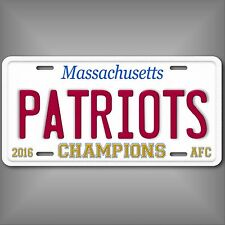 New England Patriots 2016 AFC Champions Official Sized Aluminum License Plate