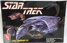 STAR TREK : FERENGI MARAUDER, KLINGON BIRD OF PREY & ROMULAN WARBIRD MODEL KITS