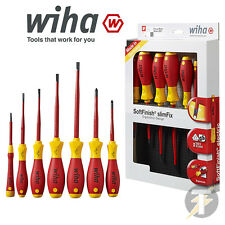 Wiha 41156 SlimFix 7 Piece VDE 1000v Slot/Pozi Slim Screwdriver Set - NEW