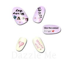 NAIL Art Adesivi Decalcomanie acqua trasferimento adesivi cuori love sweet (db2525)