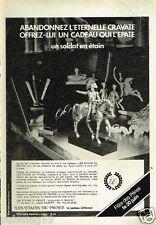 Publicité advertising 1982 Les étains du Prince
