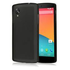 0.3mm Thin TPU Frost Matte Snap On Case Cover For New LG Google Nexus 5 Black