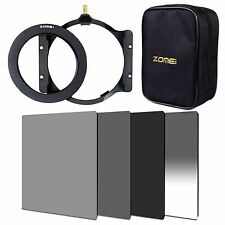 ZOMEI 4x6in. ND2+ND4+ND8+GND Gradual ND4+77mm ring+holder+16 Slot Case For Cokin
