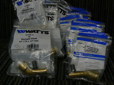 """WATTS 4522SB-10 Brass 1/2"""" CTS x 1/2"""" ODC 45 STACKABLE Elbow NEW 21 PCS"""