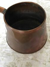 """Antique Hand- hammered Copper pot Soldered Handle Artisan Collectible 6.5"""" Tall"""