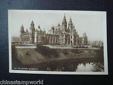 old GB postcard,art galleries,galsgow,No.2,real photo