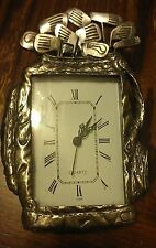 """Golf Bag Office Sport Desk Driver Clock Pewter Picture Photo Frame 3.5"""" x 5"""" #A*"""