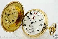 ROSKOPF PATENT 14ct GOLD TASCHENUHR - DURCHM.ca. 41,9 mm ,48,6 g extrem selten !