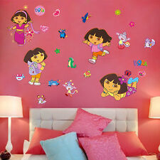 Dora Explorer Boots Monkey Mural Wall sticker Decals Girls Kids Room Decor LXL