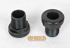 "3/4"" Bulkhead Fitting Slip X Slip Aquarium Pond High Quality by CPR Aquatic"